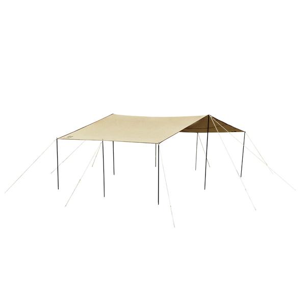 ogawa campal(小川キャンパル) フィールドタープレクタ L-DX /サンドベージュ 3335-80アウトドアギア レクタ型タープ テント ベージュ