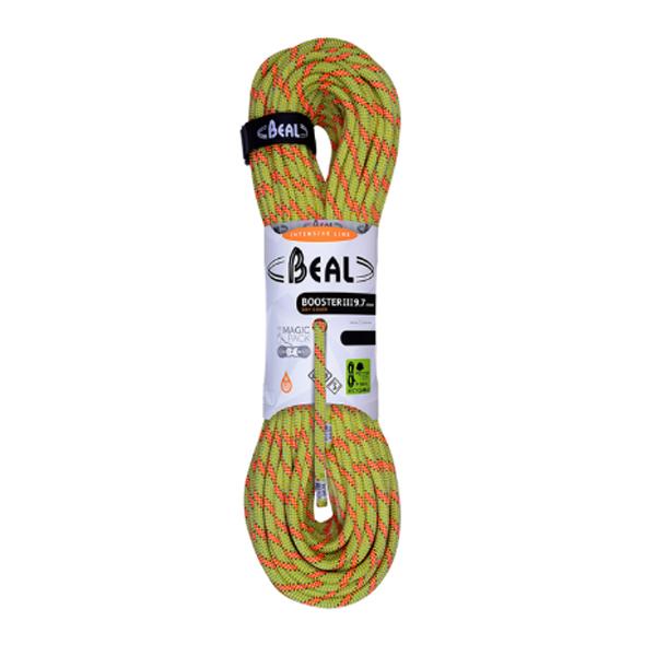 BEAL(ベアール) 9.7mmブースター3 ユニコア 50m ドライカバー/アニス BE11109イエロー トレッキング 登山 アウトドア ロープ シングルロープ アウトドアギア