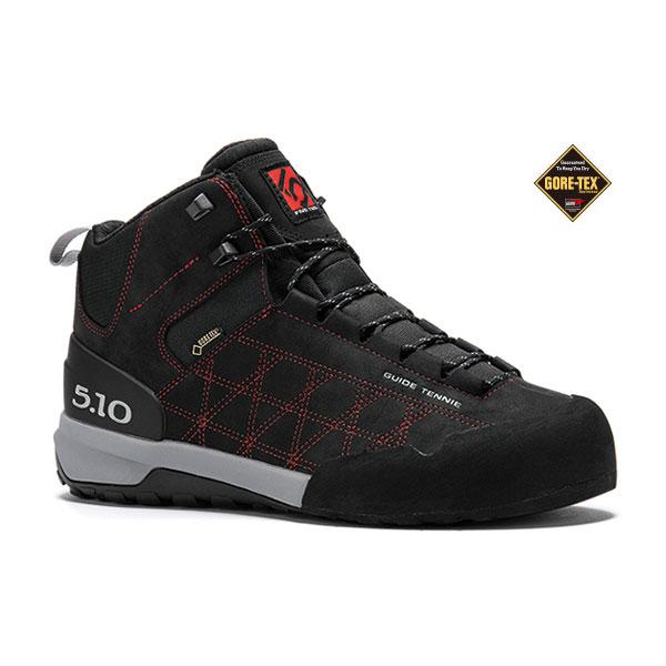 FIVETEN(ファイブテン) ガイドテニーMID GORE-TEX (BK/RD)/9 1400460ブーツ 靴 トレッキング トレッキングシューズ ハイキング用 アウトドアギア