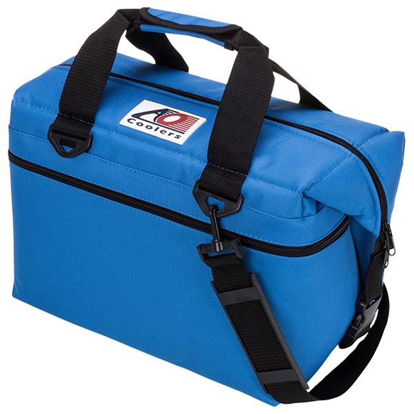 AO Coolers(エーオークーラー) 24 パック キャンバス ソフトクーラー/ブルー AO24RBブルー クーラーボックス アウトドア アウトドア ソフトクーラー 20リットル アウトドアギア