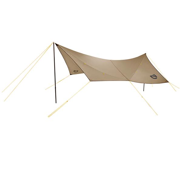 NEMO(ニーモ・イクイップメント) シャドウキャスター165 キャニオン NM-SCT-165-CYアウトドアギア ヘキサ・ウイング型タープ テント ブラウン おうちキャンプ