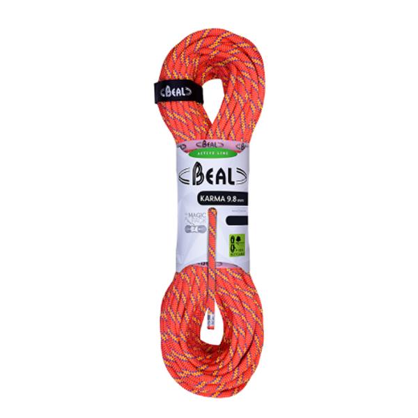 BEAL(ベアール) 9.8mmカルマ 60m/オレンジ BE11401オレンジ トレッキング 登山 アウトドア ロープ シングルロープ アウトドアギア