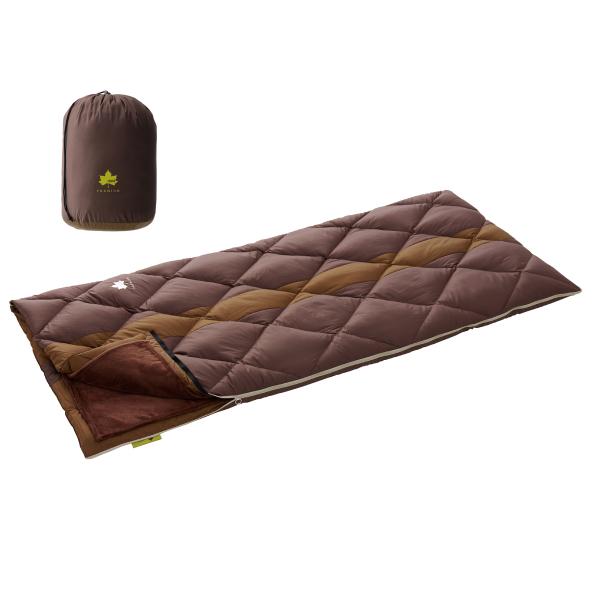 OUTDOOR LOGOS(ロゴス) プレミアム ダウンコンフォート3セパレーター・-2 72600550ブラウン シュラフ 寝袋 アウトドア用寝具 封筒型 封筒ウインター アウトドアギア