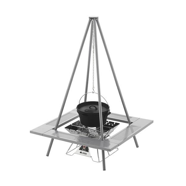 OUTDOOR LOGOS(ロゴス) 囲炉裏ピラミッドパッケージ 81064100焚き火台 クッキング用品 バーべキュー 焚火ストーブ 焚火ストーブ アウトドアギア