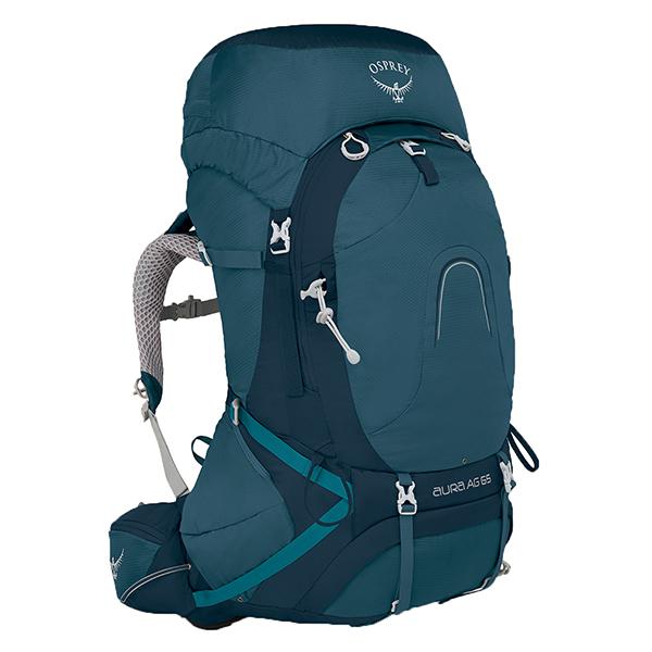 OSPREY(オスプレー) オーラAG 65/チャレンジャーブルー/S OS50185女性用 ブルー リュック バックパック バッグ トレッキングパック トレッキング60 アウトドアギア