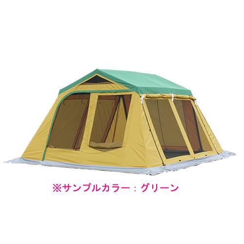 ogawa campal(小川キャンパル) リビングシェルターN-02/ブラウン 3377三人用(3人用) シェルター タープ テント アウトドアギア