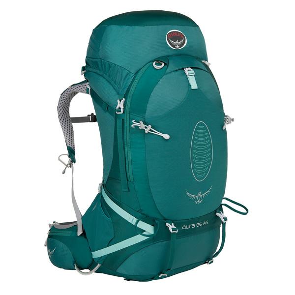 OSPREY(オスプレー) オーラAG 65/レインフォレストグリーン/S OS50225アウトドアギア トレッキング70 トレッキングパック バッグ バックパック リュック グリーン 女性用