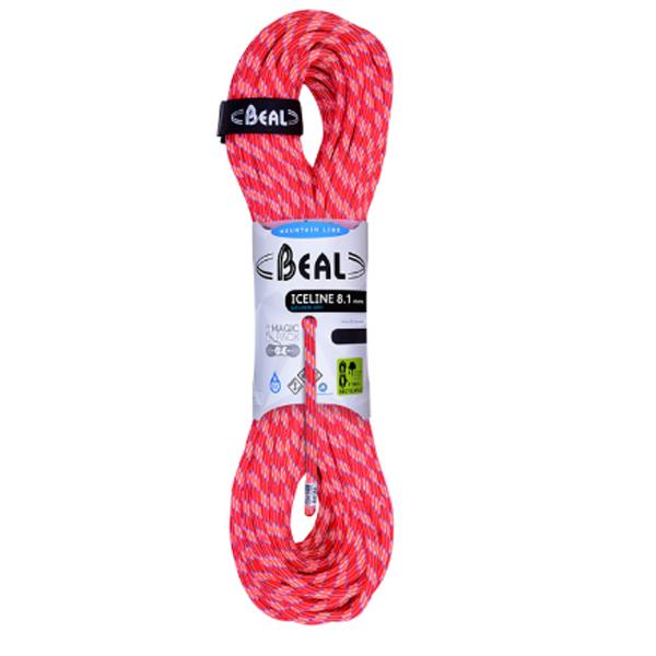 BEAL(ベアール) 8.1mm アイスライン ユニコア 50m ゴールデンドライ/オレンジ BE11018オレンジ アウトドア アウトドア スポーツ ロープ ダブルロープ アウトドアギア