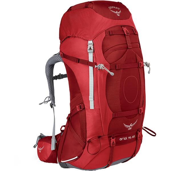 OSPREY(オスプレー) エーリエルAG 75/ピカンティレッド/M OS50065002005アウトドアギア トレッキング大型 トレッキングパック バッグ バックパック リュック レッド 女性用 おうちキャンプ