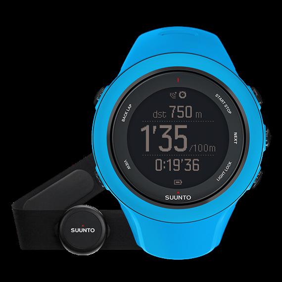 SUUNTO(スント) [正規品・2年保証]AMBIT3 SPORT HR BLUE(アンビット3スポーツエイチアールブルー) SS020679000男女兼用腕時計 腕時計 高機能ウォッチ アウトドアギア