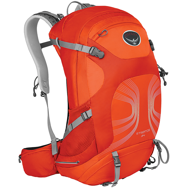 OSPREY(オスプレー) ストラトス 34/ソーラーフレアオレンジ/M/L OS50320アウトドアギア デイパック バッグ バックパック リュック オレンジ 男性用