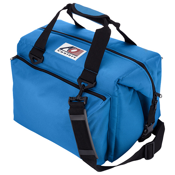 AO Coolers(エーオークーラー) 24パック キャンバス ソフトクーラー デラックス/ブルー AO24DXRBブルー クーラーボックス アウトドア アウトドア ソフトクーラー 20リットル アウトドアギア