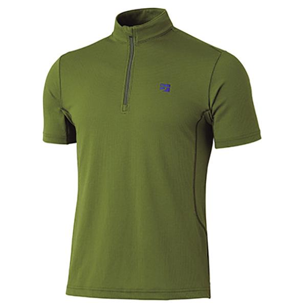 finetrack(ファイントラック) ラミースピンドライジップT Ms OA XL FMM0244男性用 グリーン メンズウェア ウェア アウトドア 半袖シャツ 半袖シャツ男性用 アウトドアウェア