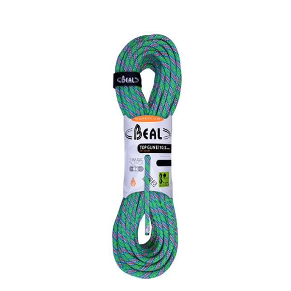 BEAL(ベアール) 10.5mm トップガン2 ユニコア 60m ドライカバー/グリーン BE11133グリーン トレッキング 登山 アウトドア ロープ シングルロープ アウトドアギア