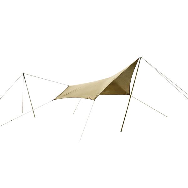 ogawa campal(小川キャンパル) システムタープペンタ3×3 3337ブラウン タープ タープ テント ヘキサ・ウイング型タープ ヘキサ・ウイング型タープ アウトドアギア