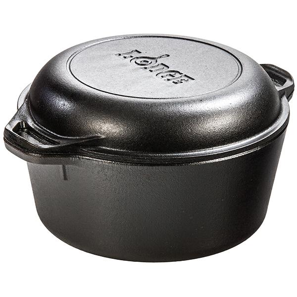 LODGE(ロッジ) [正規品]LDG ダブルダッチオーブン L8DD3 19240066ブラック ダッチオーブン クッキング用品 バーべキュー アウトドアギア