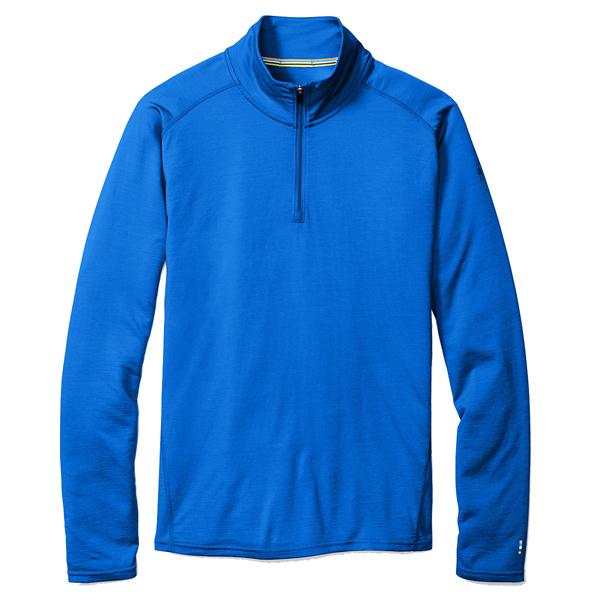 SmartWool(スマートウール) Ms メリノ150ベースレイヤー1/4ジップ/ブライトブルー/XS SW62004男性用 ブルー トップス メンズインナー スポーツ用インナー 男性用インナー 長袖シャツ アウトドアウェア