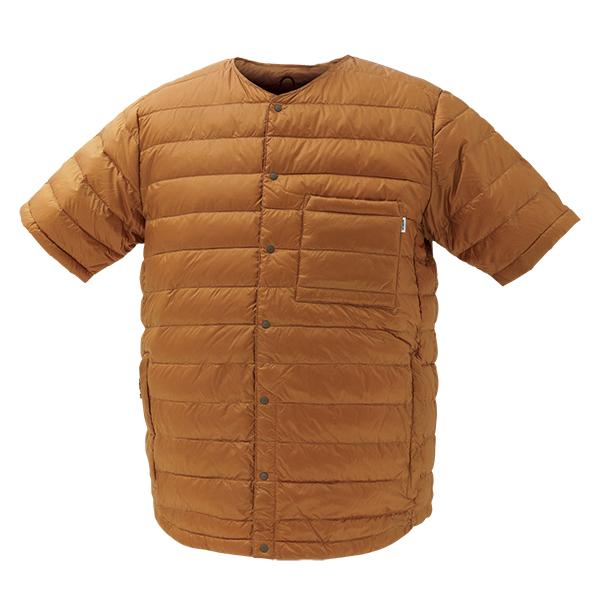 NANGA(ナンガ) ダウンTシャツ/BRN/S DT101男性用 ブラウン カットソー Tシャツ トップス 半袖Tシャツ 半袖Tシャツ男性用 アウトドアウェア