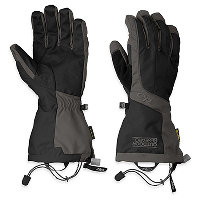 Outdoor Research(アウトドアリサーチ) ORMensAreteGloves/black/charcoal/S 19840049男性用 ブラック 手袋 メンズウェア ウェア ウェアアクセサリー 冬用グローブ アウトドアウェア