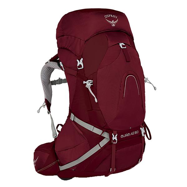 OSPREY(オスプレー) オーラAG 50/ガンマレッド/S OS50186女性用 レッド リュック バックパック バッグ トレッキングパック トレッキング50 アウトドアギア