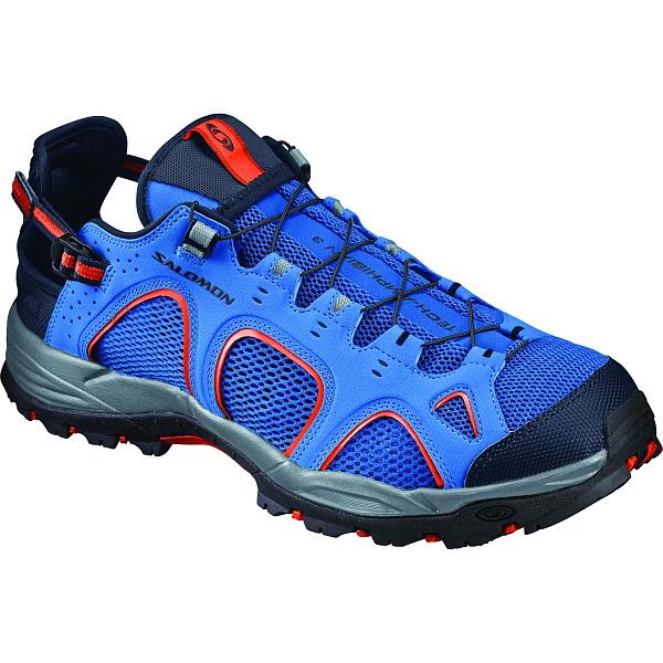 Salomon(サロモン) TECHAMPHIBIAN 3/Nautical blue/Navy blazer/Flame/27.0cm L39470300男性用 大人用 ブルー ブーツ 靴 トレッキング アウトドアスポーツシューズ ウォーターシューズ アウトドアギア