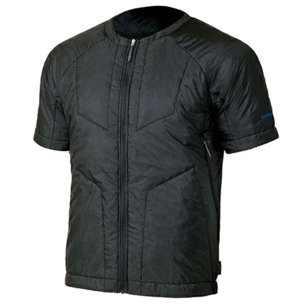 finetrack(ファイントラック) MENSポリゴン2ULハーフスリーブジャケット/BK/M FIM0304男性用 ブラック アウター メンズウェア ウェア ジャケット 中綿入り ジャケット 中綿入り男性用 アウトドアウェア