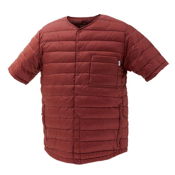 NANGA(ナンガ) ダウンTシャツ/BUR/XS DT111男性用 パープル カットソー Tシャツ トップス 半袖Tシャツ 半袖Tシャツ男性用 アウトドアウェア