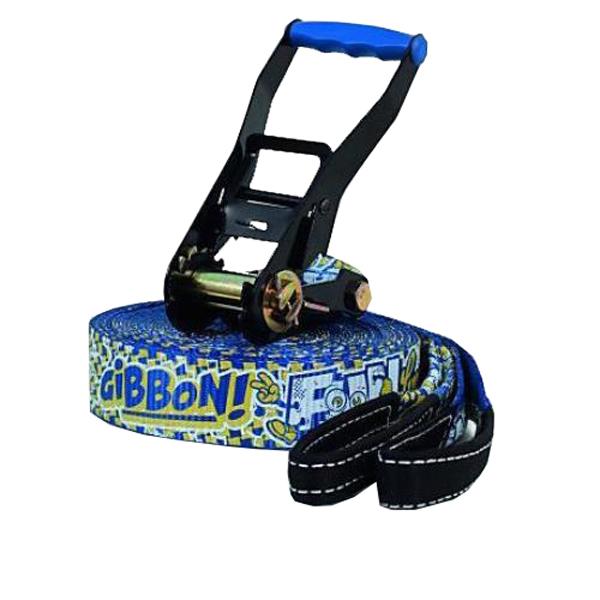 GIBBON(ギボン) FUN LINE /15m TREEWEAR SET A010503(6)アウトドアギア スラックライン フィットネス トレーニング スポーツ器具 ブルー