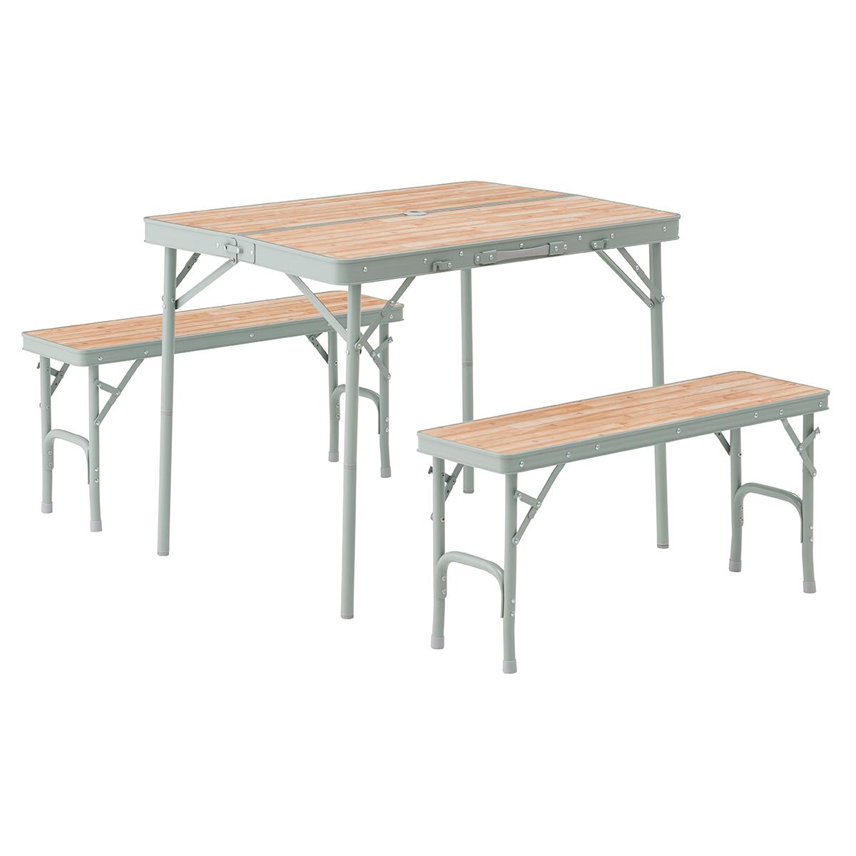 OUTDOOR LOGOS(ロゴス) LOGOS Life ベンチテーブルセット4 73183013テーブル レジャーシート テーブルセット アウトドアギア