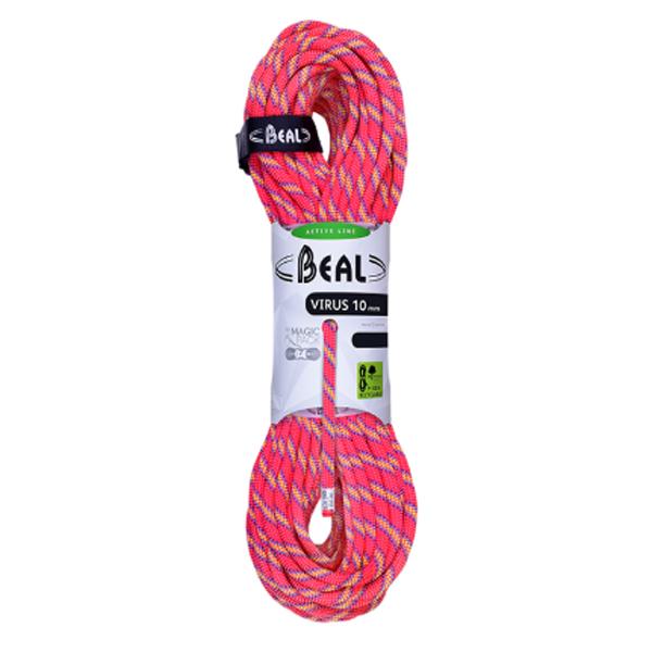 BEAL(ベアール) 10mmバイラス 60m/ピンク BE11161ピンク トレッキング 登山 アウトドア ロープ シングルロープ アウトドアギア