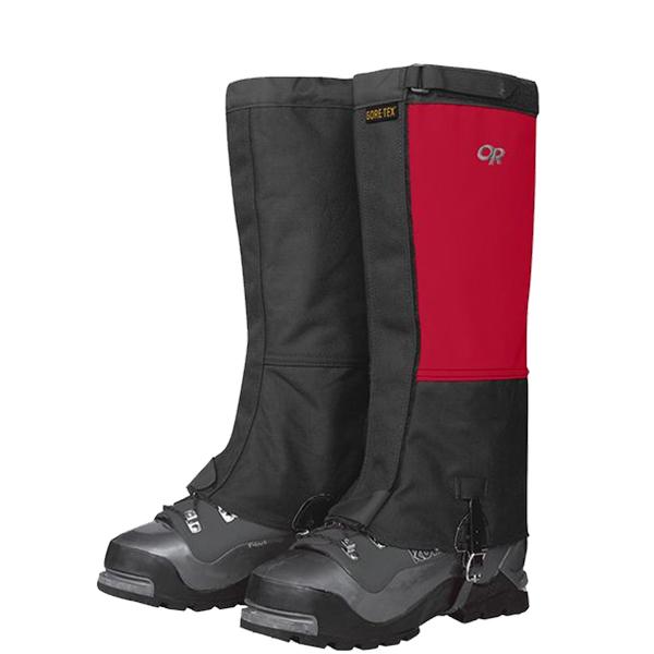 Outdoor Research(アウトドアリサーチ) OR Mens Expedition Crocodile Gaiters/chili/black/L 19496154レッド ブーツ 靴 トレッキング ウェアアクセサリー 冬用ゲーター(スパッツ) アウトドアウェア
