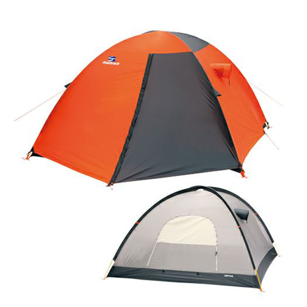 finetrack(ファイントラック) カミナドーム1/OG/GY FAG0311アウトドアギア 登山1 登山用テント タープ 一人用(1人用) オレンジ おうちキャンプ