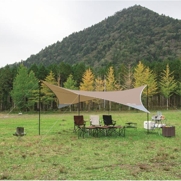 UNIFLAME(ユニフレーム) REVOタープ2(L)TAN 681886ブラウン タープ タープ テント ヘキサ・ウイング型タープ ヘキサ・ウイング型タープ アウトドアギア