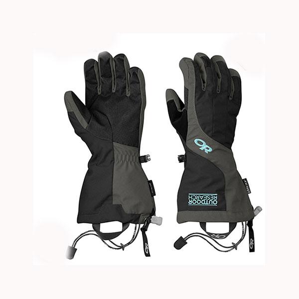 Outdoor Research(アウトドアリサーチ) ORWomensAreteGloves/black/charcoal/S 19840050女性用 ブラック 手袋 メンズウェア ウェア ウェアアクセサリー 冬用グローブ アウトドアウェア