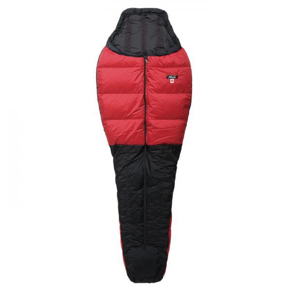 NANGA(ナンガ) オーロラ300STD/RED/BLK/ショート AUR104レッド 一人用(1人用) サマータイプ(夏用) シュラフ 寝袋 アウトドア用寝具 マミー型 マミーサマー アウトドアギア