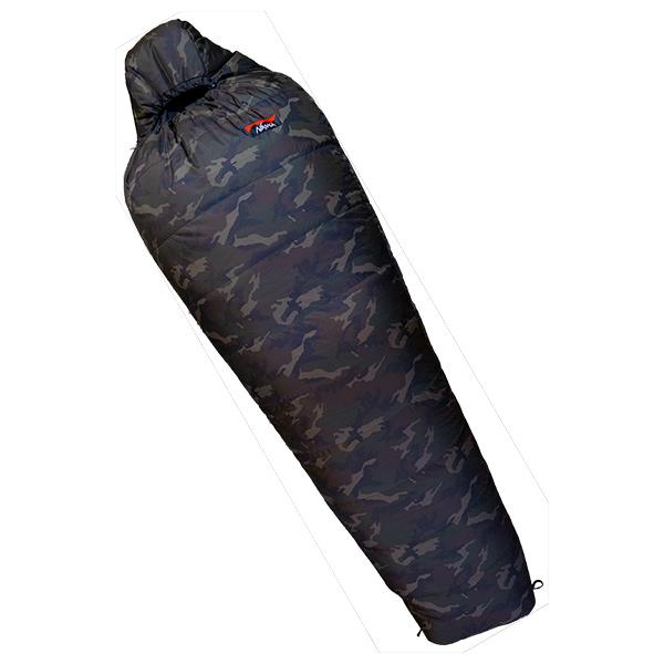 NANGA(ナンガ) [山渓×NANGA]オーロラ450DX CAMO/レギュラープラス(180cm対応) AUR450RLCMシュラフ 寝袋 アウトドア用寝具 マミー型 マミースリーシーズン アウトドアギア