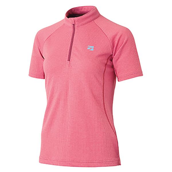 ★エントリーでポイント5倍!finetrack(ファイントラック) ラミースピンドライジップT Ws CA FMW0244女性用 ピンク レインウェア ウェア アウトドア 半袖シャツ 半袖シャツ女性用 アウトドアウェア