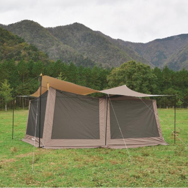UNIFLAME(ユニフレーム) REVOメッシュウォール2(L)TAN 681909アウトドアギア メッシュテント テント タープ ブラウン