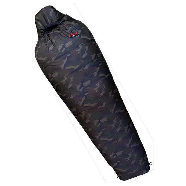 NANGA(ナンガ) [山渓×NANGA]オーロラ600DX CAMO/レギュラープラス(180cm対応) AUR600RLCMシュラフ 寝袋 アウトドア用寝具 マミー型 マミースリーシーズン アウトドアギア