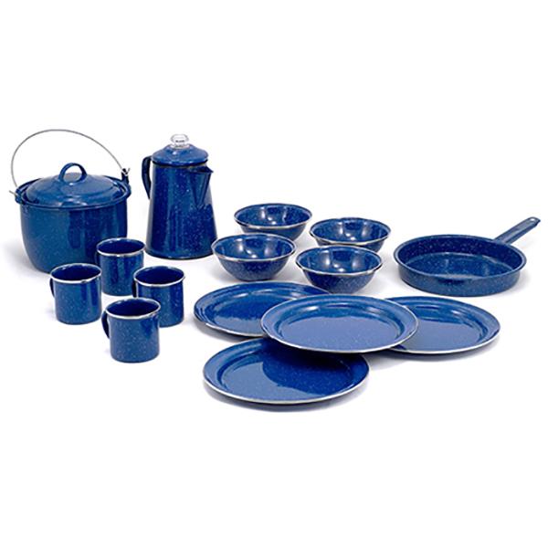 GSI(ジーエスアイ) GSI パイオニア 16P キャンプセット BL 11870005ブルー セット キャンプ用食器 アウトドア テーブルウェア テーブルウェアセット アウトドアギア