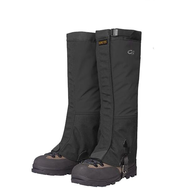 Outdoor Research(アウトドアリサーチ) OR Mens Crocodile Gaiters/black/L 19496157男性用 ブラック ブーツ 靴 トレッキング ウェアアクセサリー 冬用ゲーター(スパッツ) アウトドアウェア