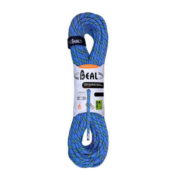 BEAL(ベアール) 10.5mm トップガン2 ユニコア 50m ドライカバー/ブルー BE11129ブルー トレッキング 登山 アウトドア ロープ シングルロープ アウトドアギア