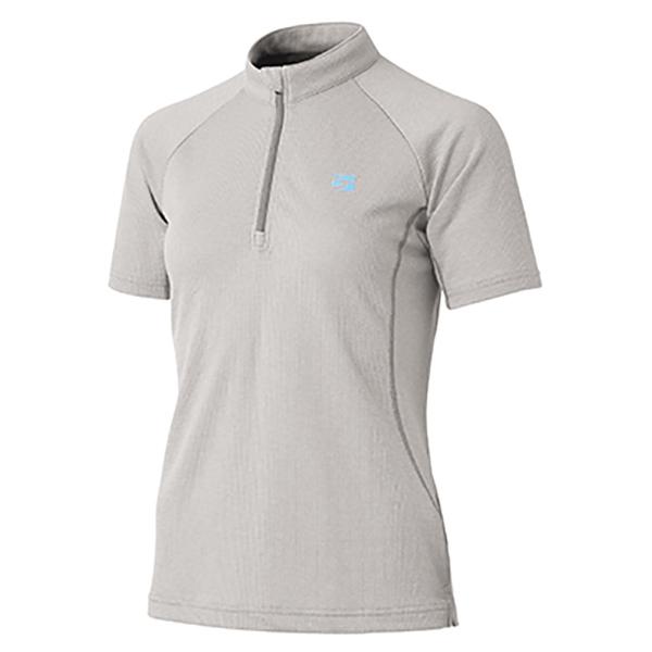 finetrack(ファイントラック) ラミースピンドライジップT Ws PA FMW0244女性用 グレー メンズウェア ウェア アウトドア 半袖シャツ 半袖シャツ男性用 アウトドアウェア