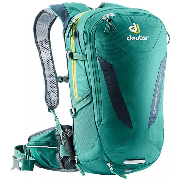 deuter(ドイター) コンパクト EXP 12 アルパイングリーン×ミッドナイト D3200215-2319アウトドアギア 自転車用バッグ バッグ バックパック リュック グリーン