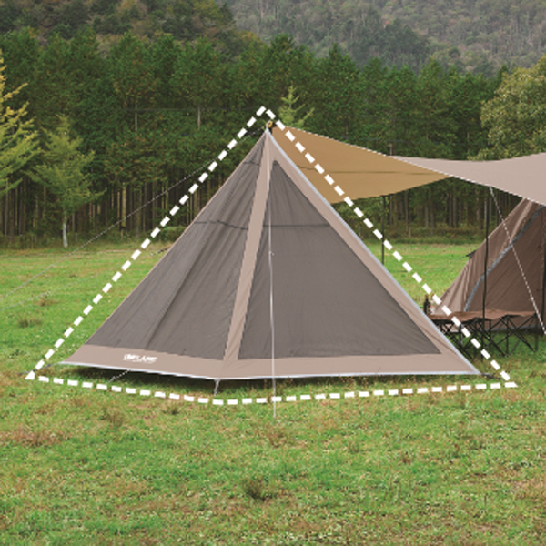 UNIFLAME(ユニフレーム) REVOフラップ2 TAN 681992ブラウン タープ タープ テント メッシュテント メッシュテント アウトドアギア