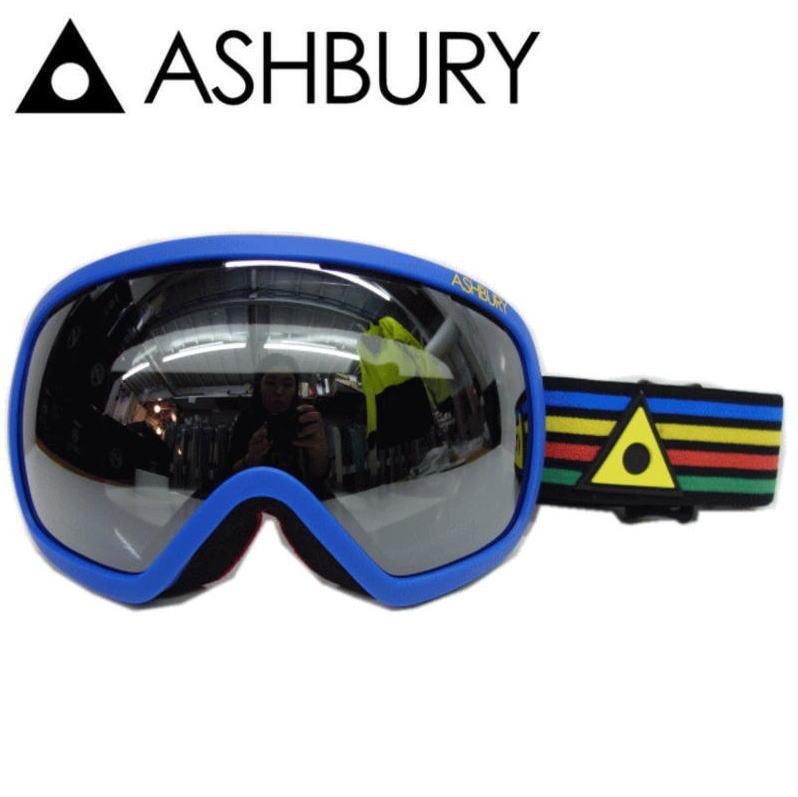 62%off 半額以下●ASHBURY BULLET カラー:STRIPES レンズ:SILVER MIRROR アイウェアブランドアシュベリーのスキースノーボードゴーグル! 球面レンズのバレット シルバーミラーレンズ