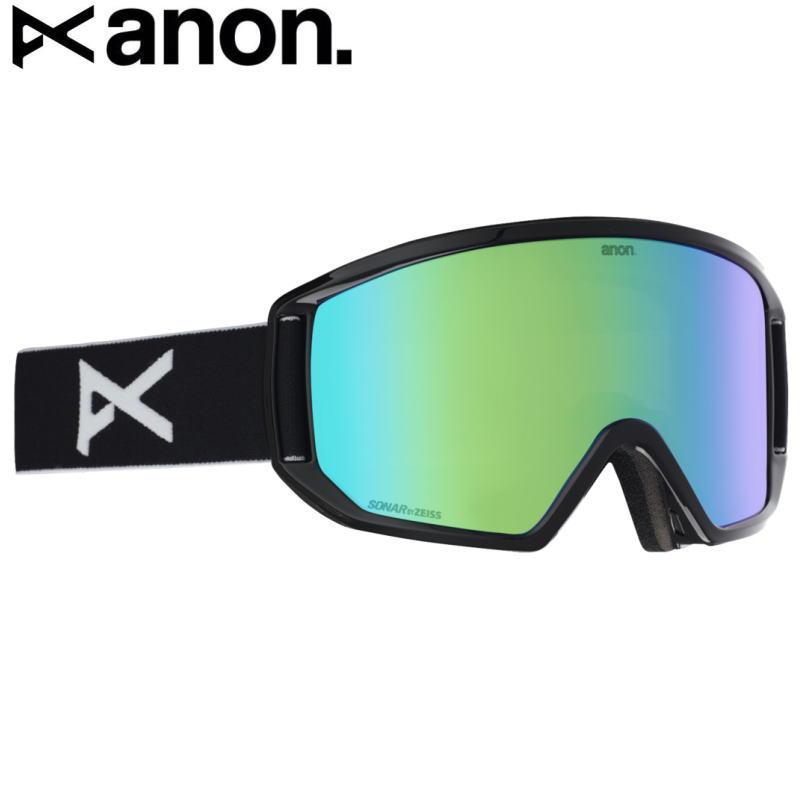 ☆20 ANON RELAPSE GOGGLE ASIAN FIT カラー:BLACK レンズ:SONAR GREEN バートン アノン ゴーグル リラプス メガネ対応 アジアンフィット 日本正規品