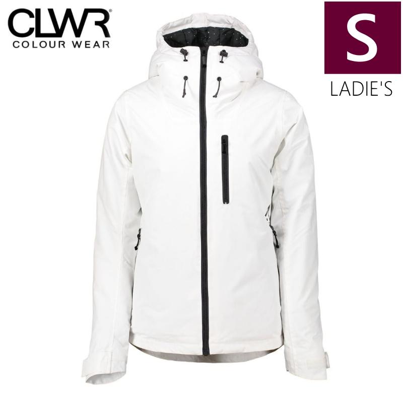 半額以下!★レディース[Sサイズ]CLWR CAKE JKT カラー:WHITE カラーウェア スキー スノーボードウェア 日本正規品 COLOUR WEAR【型落ち 旧モデル】