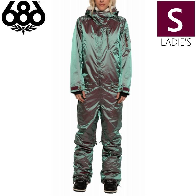 耐水圧:10,000mm / 透湿性:10,000g 20-21 686 Hologram Insulated Snow Suit カラー:Plum Iridescent Sサイズ シックスエイトシックス ホログラム スノースーツ ワンピース つなぎ レディースウェア スノーボード スキー 日本正規品