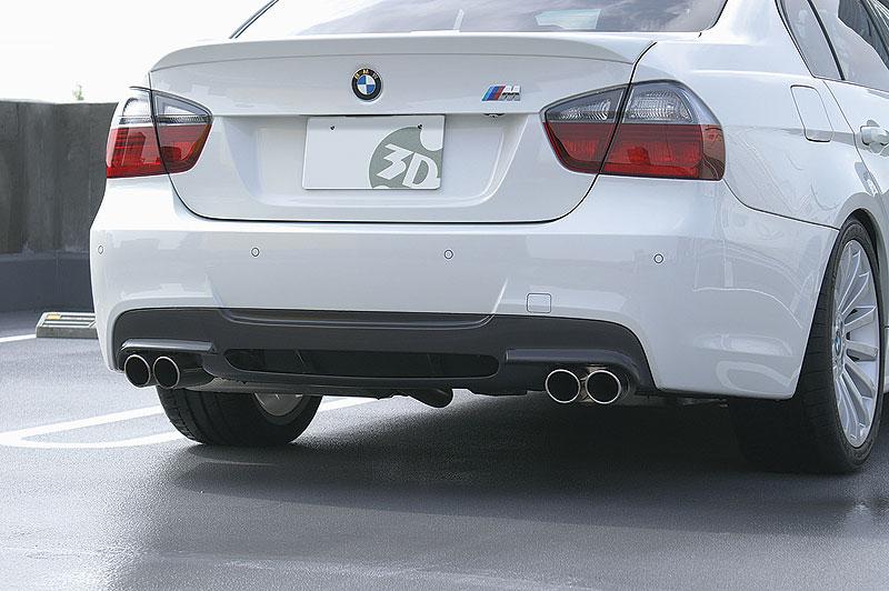 3D Design (3Dデザイン)BMW 3シリーズ E90/E91 M-Sport(320i/323i/325i/330i)リアディフューザー デュアル BGセット